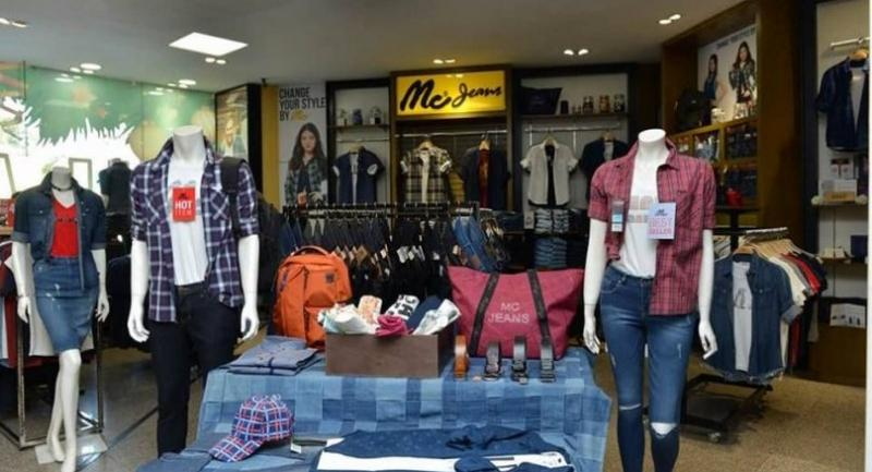 A Mc Jeans outlet in Taw Win Centre in Yangon. Mc Jeans currently has eight points of sales in Myanmar, including in major  cities such as Yangon, Mandalay, Taunggyi, and Myitkyina.