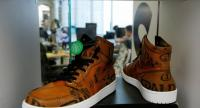 Air Jordan 1 Retro High shoes that have been authenticated are on display./AFP Photo