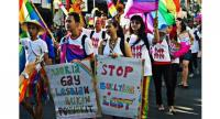 File photo : Activists stage a peaceful rally to call for broader state protection of the rights of the lesbian, gay, bisexual and transgender (LGBT) community in Yogyakarta. //Kompas