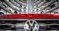 This file photo shows German carmaker Volkswagen's cars at the storage facility auto tower at the company headquarters in Wolfsburg.//AFP