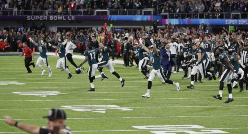 Philadelphia Eagles celebrate after winning the Super Bowl LII at US Bank Stadium in Minneapolis, Minnesota, USA, 04 February 2018./EPA-EFE/JUSTIN LANE