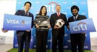 Consumer Business Manager of Citibank Thailand Vira-anong Chiranakhorn Phutrakul (2nd from left)  and His Excellency Kirill Barsky, (2nd from right) Ambassador of Russian Federation to Thailand in a photo session.