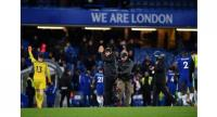 Chelsea's Italian head coach Antonio Conte applauds at the end of the English Premier League football match between Chelsea and West Bromwich Albion at Stamford Bridge in London on February 12, 2018.
