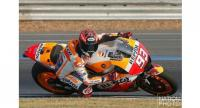 Marc Marquez during the Winter Test at the Chang International Circuit on Friday. Photo by Korbphuk Promrekha