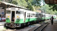 A train on the Yangon circular line leaves for downtown (Photo- Khine Kyaw, The Nation)