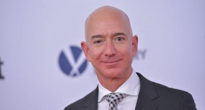 This file photo taken on December 14, 2017 shows Amazon CEO Jeff Bezos arriving for the premiere of