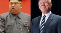 File phto : Kim Jong Un and Donald Trump
