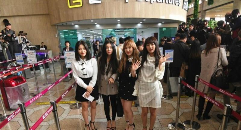 Members of K-pop girlband