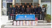 This file photo shows 5,000 smuggled cigarette packs seized at a liquor shop in Hat Yai, Songkhla, in October last year.