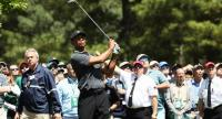 Tiger Woods of the United States plays a shot on the 11th hole during the first round of the 2018 Masters Tournament at Augusta National Golf Club on April 5, 2018 in Augusta, Georgia. Jamie Squire/Getty Images/AFP