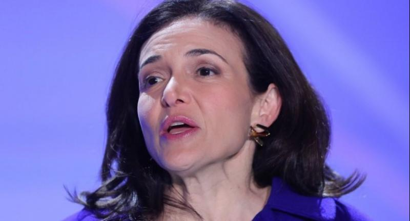 In this file photo taken on January 22, 2018 Chief Operating Officer of Facebook Sheryl Sandberg inaugurates the interactive Facebook exhibition