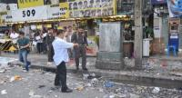 File photo: A bomb attack in front of Ramkhamhaeng University in Bangkok in 2013.