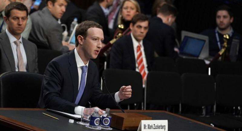 Facebook co-founder, Chairman and CEO Mark Zuckerberg testifies before a combined Senate Judiciary and Commerce committee hearing in the Hart Senate Office Building on Capitol Hill April 10, 2018 in Washington, DC. // AFP PHOTO