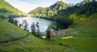 Ranu Kumbolo campsite in the hills of Mount Semeru, East Java.