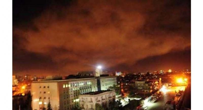 A photo of the US-led strikes on the outskirts of Damascus. (AFP)