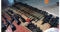 Thai authorities confiscated a number of weapons and equipment on Tuesday believed to have been smuggled from Cambodia. //Cambodia's National Police