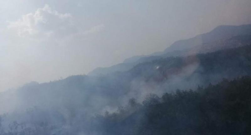 Smoke goes up from a hotspot in Chiang Mai province : Cr facebook Somkiat Metham