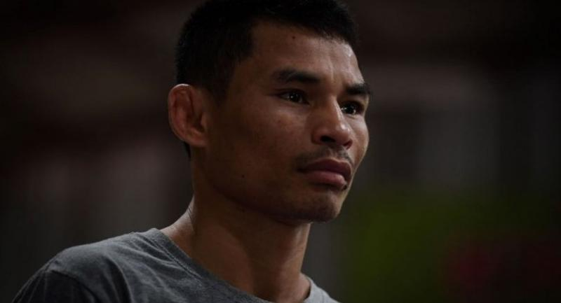 Undefeated Thai boxer Wanheng Menayothin prepares for a sparring session ahead of the World Boxing Council (WBC) mininumweight division title fight against Panamanian challenger Leroy Estrada (not pictured), at a gym in the outskirts of Bangkok .