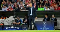 Real Madrid's French coach Zinedine Zidane reacts during the UEFA Champions League semi-final first-leg football match FC Bayern Munich v Real Madrid CF in Munich, southern Germany on April 25, 2018.