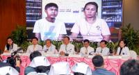 Siriraj Hospital officials announce yesterday that Asia's first successful combined heart-liver-kidney transplant was carried out at the hospital late last year.