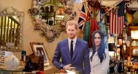 Royal wedding memorabilia and other Anglophile items adorn the Rose Tree Cottage in Pasadena, north of Los Angeles, California, May 15, 2018. // AFP PHOTO