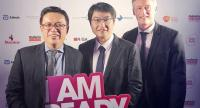 From L to R: Gerard Teoh, co-founder of M2030 and CEO of Crave Capital; Zhou Junjie, Chief Commercial Officer of Shopee; Patrik Silborn, co-founder of M2030 and Senior Director Resource Mobilization at APLMA