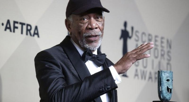Morgan Freeman apologizes after sexual harassment claims. Photo/EPA
