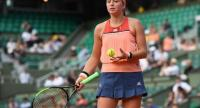 Latvia's Jelena Ostapenko reacts during her women's singles first round tennis match against Ukraine's Kateryna Kozlova, on day one of The Roland Garros 2018 French Open tennis tournament in Paris on May 27, 2018.