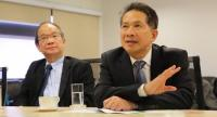Supant, right, elected chairman of the Federation of Thai Industries for a second term.