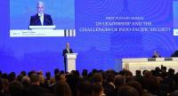 US Defence Secretary James Mattis delivers his speech during the first plenary session of the 17th Asian Security Summit of the IISS ShangriLa Dialogue in Singapore on June 2, 2018. / AFP PHOTO / ROSLAN RAHMAN