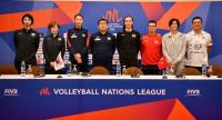 Coaches and players of Japan, South Korea, Turkey and Thailand.