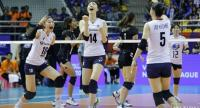 South Korea react after winning a point against Thailand. / Nation Photo by Korbphuk Phromrekha