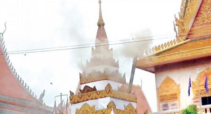 Wat Ounalom during a funeral