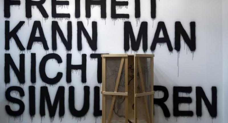 Thai artist Rirkrit Tiravanija's installation entitled