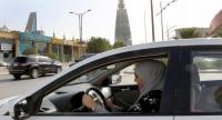Dina Yousef, 30, drives for the first time through the streets of the capital city Riyadh, Saudi Arabia, in the early morning hours of 24 June 2018 when the royal decree lifted the ban on women driving a car in Saudi Arabia. // EPA-EFE PHOTO