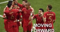 Portugal's forward Ricardo Quaresma (3rd L) celebrates scoring the opening goal with his teammates.