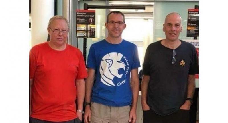UK's  experts from left: Robert Charlie Harper, John Volamthen, Richard William Stanton.
