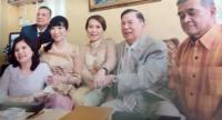 Former prime minister Chavalit Yongchaiyudh holds hands with his new wife in this undated photo. Their marriage was registered sometime after his 86th birthday in May.