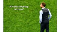 England's coach Gareth Southgate reacts after losing the Russia 2018 World Cup semi-final football match.