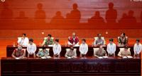 Deligates sign the Union Accord during the closing ceremony of the third session of the 'Union Peace Conference - 21st century Panglong' in Naypyitaw, Myanmar, 16 July 2018.EPA-EFE/HEIN HTET