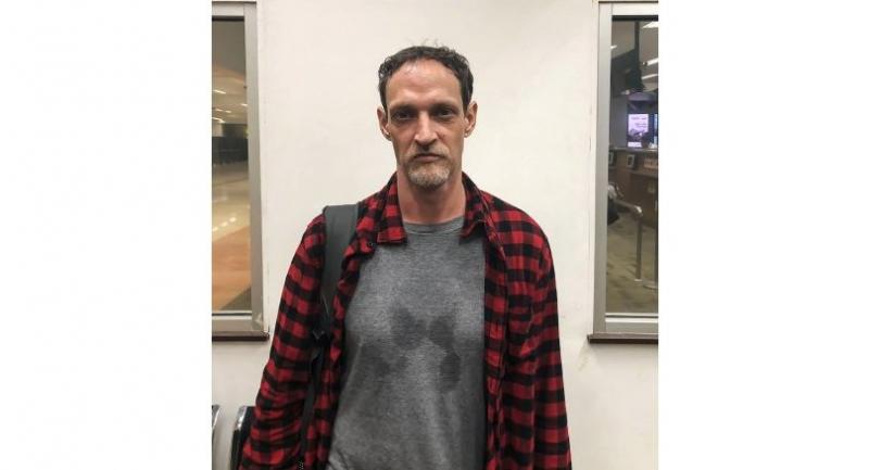 This handout photograph released by the Immigration Agency and taken on July 21, 2018 shows French national Michael Blanc, who was convicted for drug smuggling and served 18 years in custody./AFP