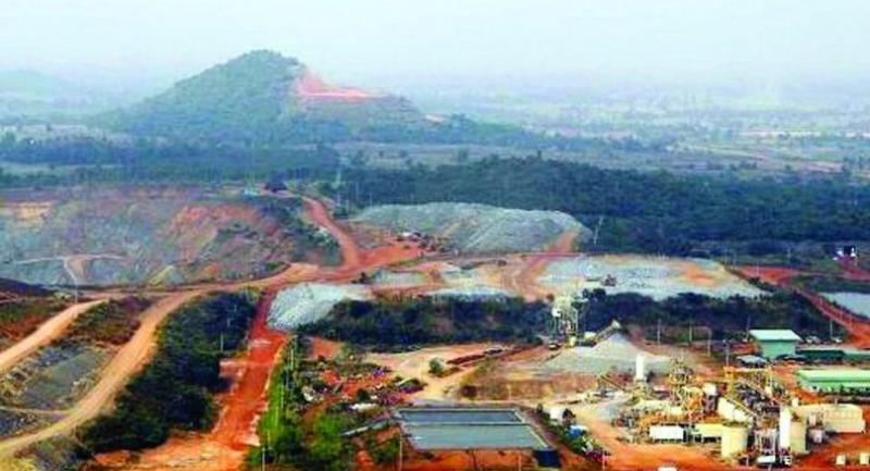 File photo: Akara Resources' gold mine in Phichit.