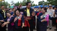 Prayut during the mobile Cabinet excursion in Amnat Charoen Province