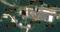 Satellite image courtesy Airbus Defense and Space and 38 North obtained July 23, 2018 shows the apparent dismantling of facilities at the Sohae satellite launching station, North Korea. /AFP