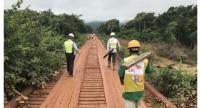Workers are repairing the road in Attapeu, Laos. (SK E