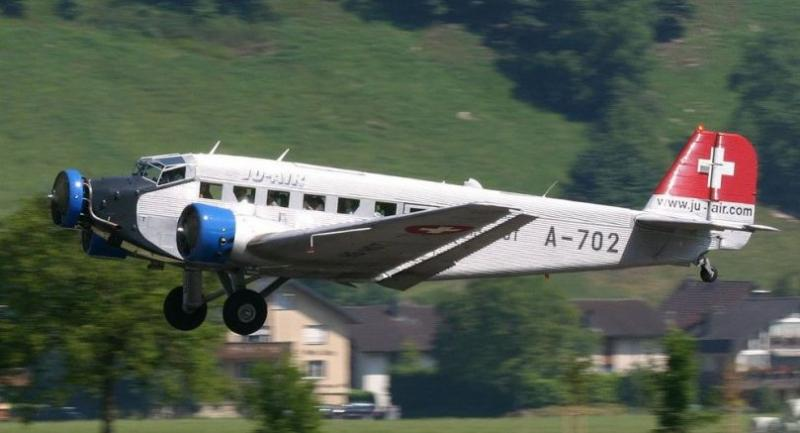 File photo: The Junker JU52 HB-HOT // Photo from www.old.hermannkeist.ch