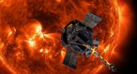 A handout image made available by NASA on 09 August 2018, showing an artists' view of Parker Solar Probe approaching the Sun. // EPA-EFE PHOTO