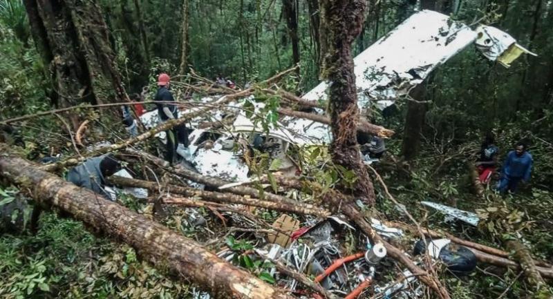 The crash site//AFP