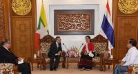 State Counsellor Aung San Suu Kyi (right) holds talk with Thai Foreign Minister Mr. Don Pramudwinai. (Photo) Myanmar News Agency