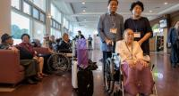 Inter-Korean family reunion participants prepare to depart for North Korea from a hotel resort in Sokcho on August 20, 2018./AFP